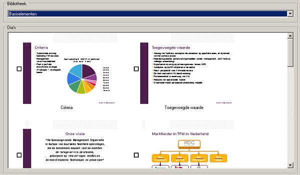 Microsoft PowerPoint bestaande-dias gebruiken