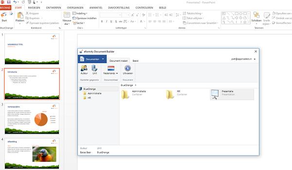 Microsoft PowerPoint-huisstijl uniformiteit