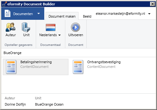 Microsoft Outlook standaard e-mails