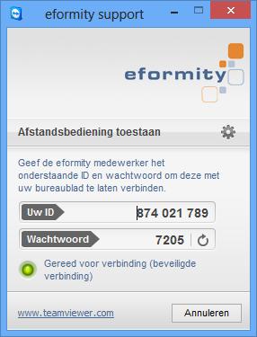eformity-ondersteuning teamviewer